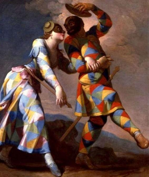 Maschera di Colombina: la servetta della Commedia dell\'Arte